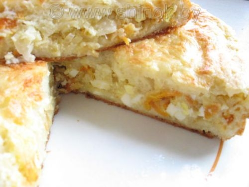 Пирог бездрожжевой с рыбой и картошкой рецепт
